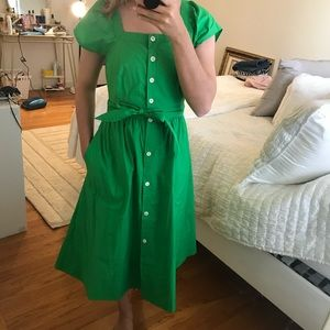 Midi Green dress, perfect for summer